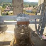 Zvono s jarmom, kugličnim ležajevima i kolom